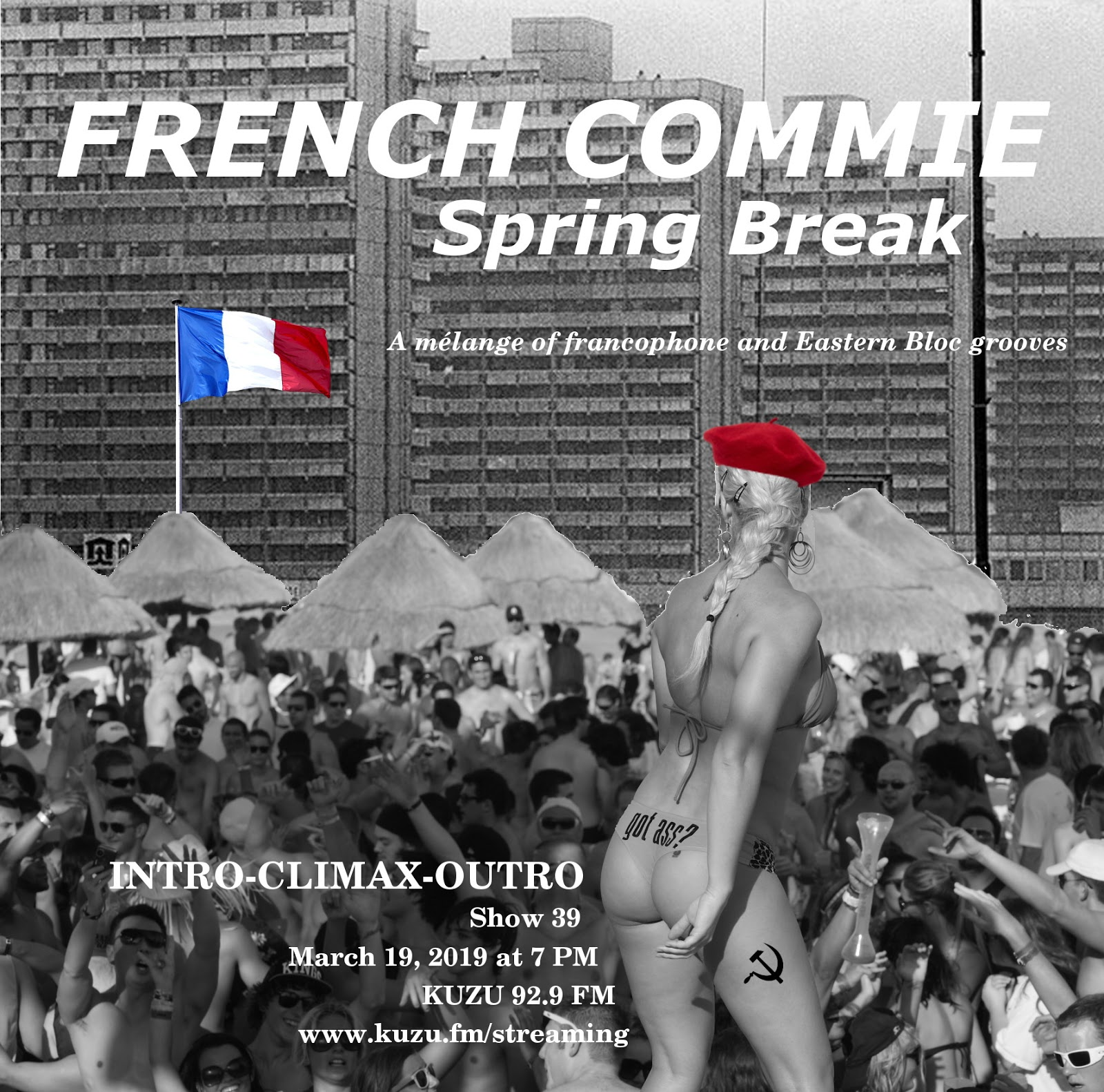 French Commie Spring Break show flyer