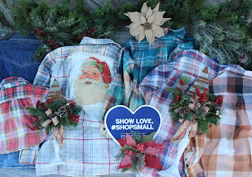 distressed flannel shirts and rustic Christmas decor