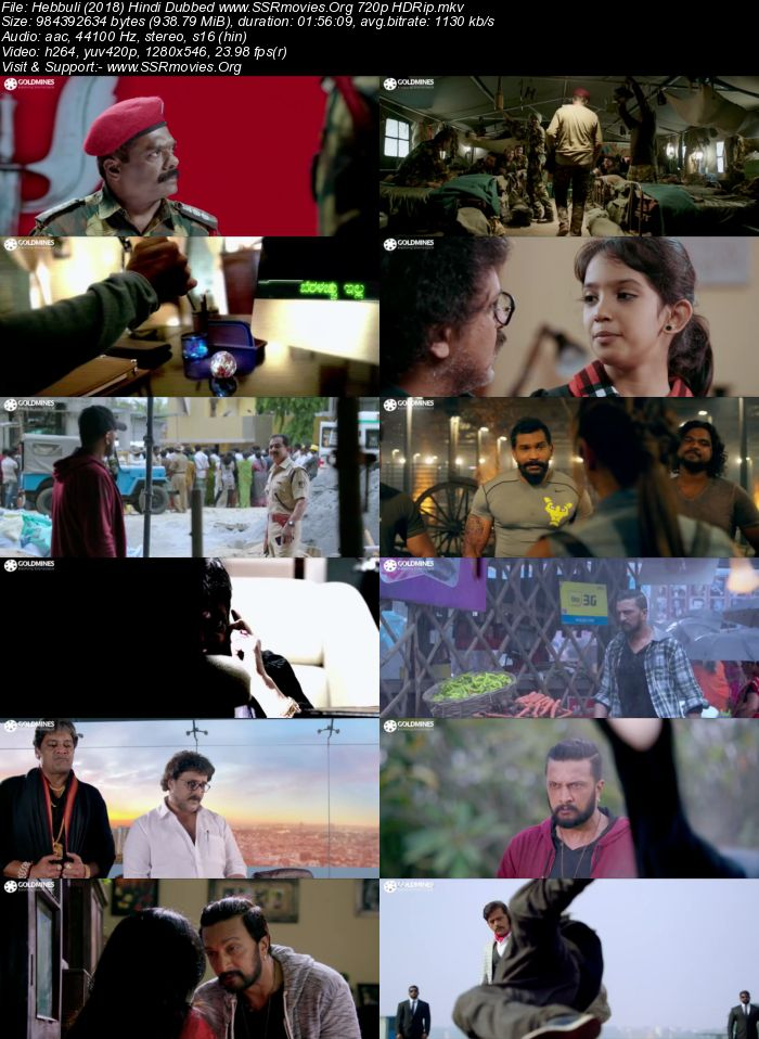 Hebbuli (2018) Hindi Dubbed 720p HDRip