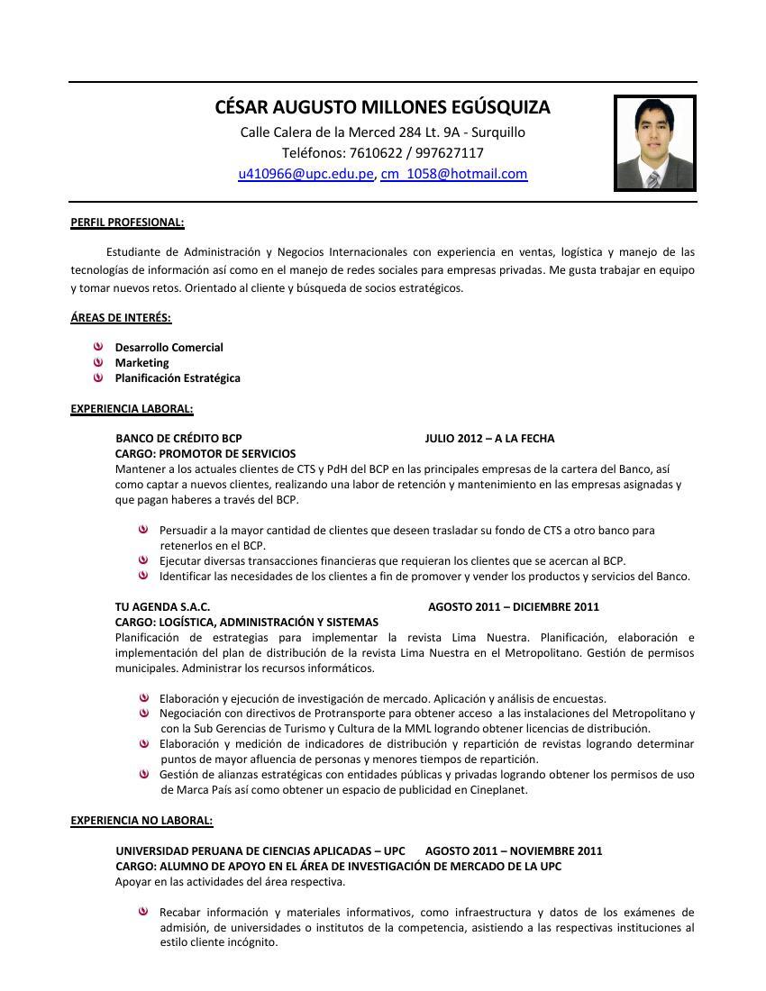 Mi Blog Personal Curriculum Vitae Por Logros