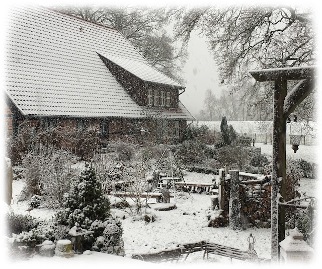 Winterromantik am Elbdeich