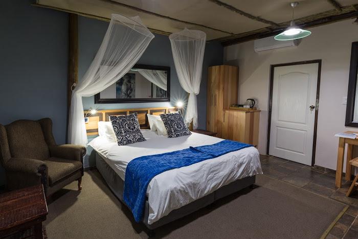 Habitación doble del Umlilo Lodge, St. Lucía, Sudáfrica