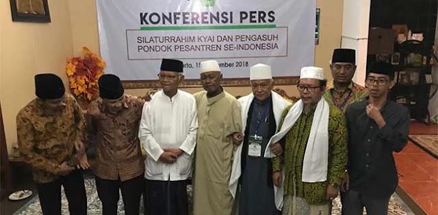 Ingin Benar-Benar Dipimpin Ulama, Ratusan Kiai Dukung Jokowi-Ma'ruf