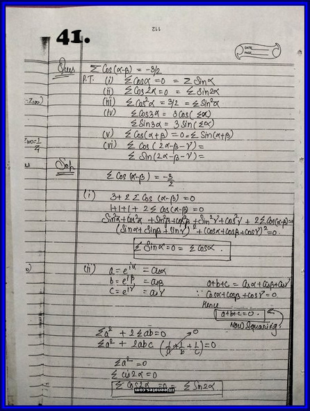 IITJEE Competition Notes On Complex Number 41