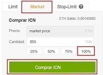 Comprar y Guardar en Monedero Iconomi (ICN) Guía Español Tutorial