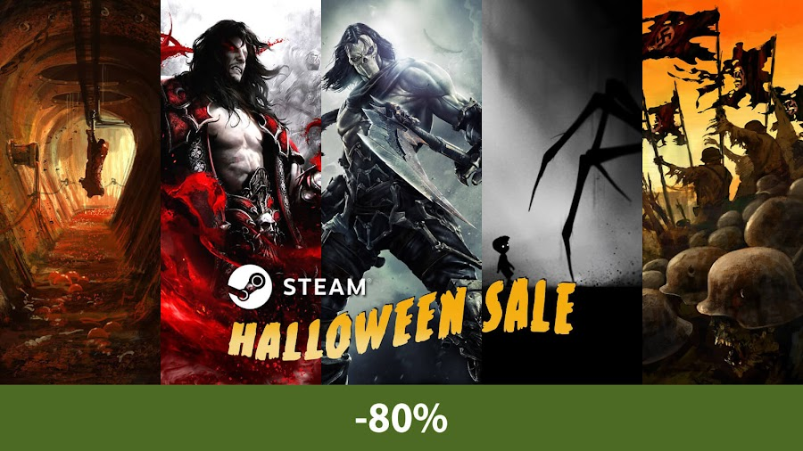 steam halloween sale 2018 amnesia castlevania darksiders limbo zombie army