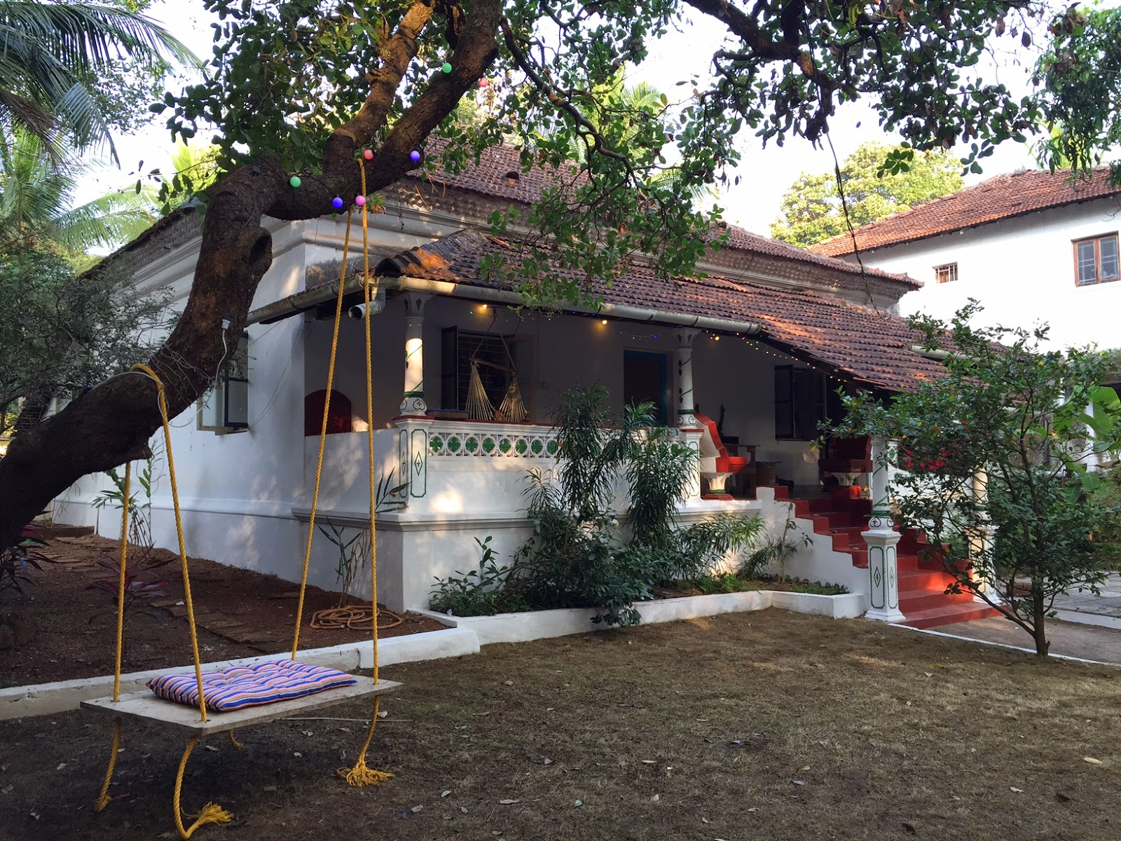 goa beyond beaches Portuguese house green villa bungalow