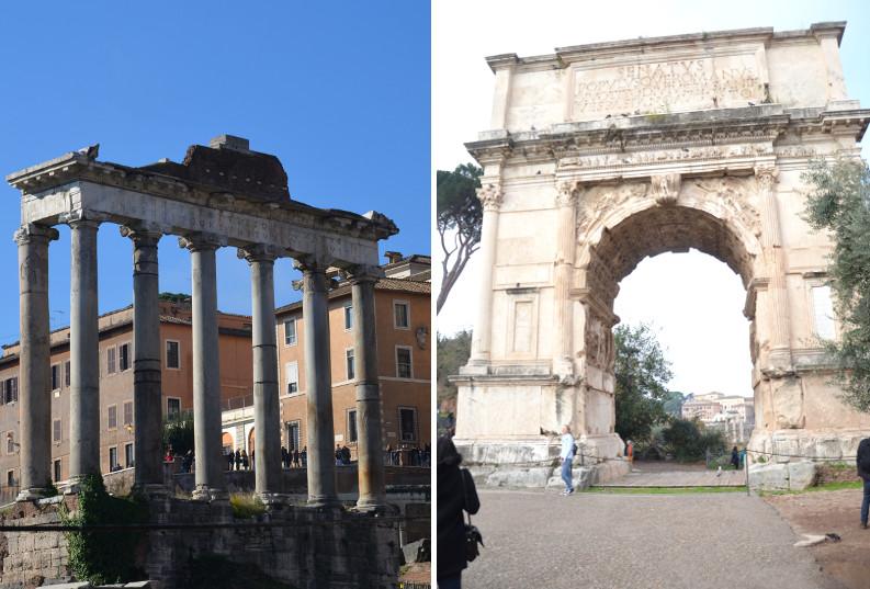łuk, Rzym, weekend w Rzymie, Forum Romanum, Panteon, Włochy