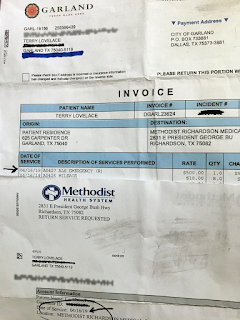 Terry Lovelacce's Medical Bill After Abduction