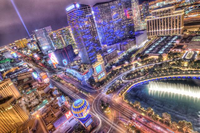 Kaupunki tapetti Las Vegas Valokuvatapetti maisematapetti