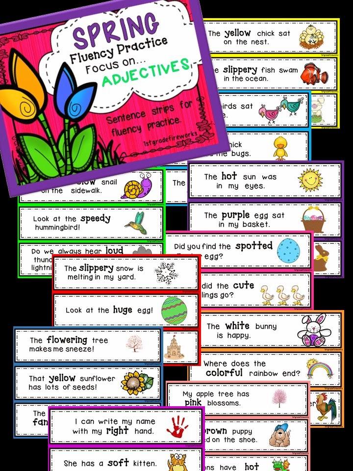 https://www.teacherspayteachers.com/Product/SPRING-Fluencywith-a-Focus-on-ADJECTIVES-1779414