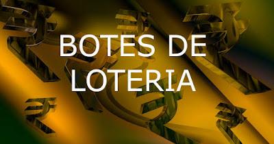 información de los botes de loteria en juego