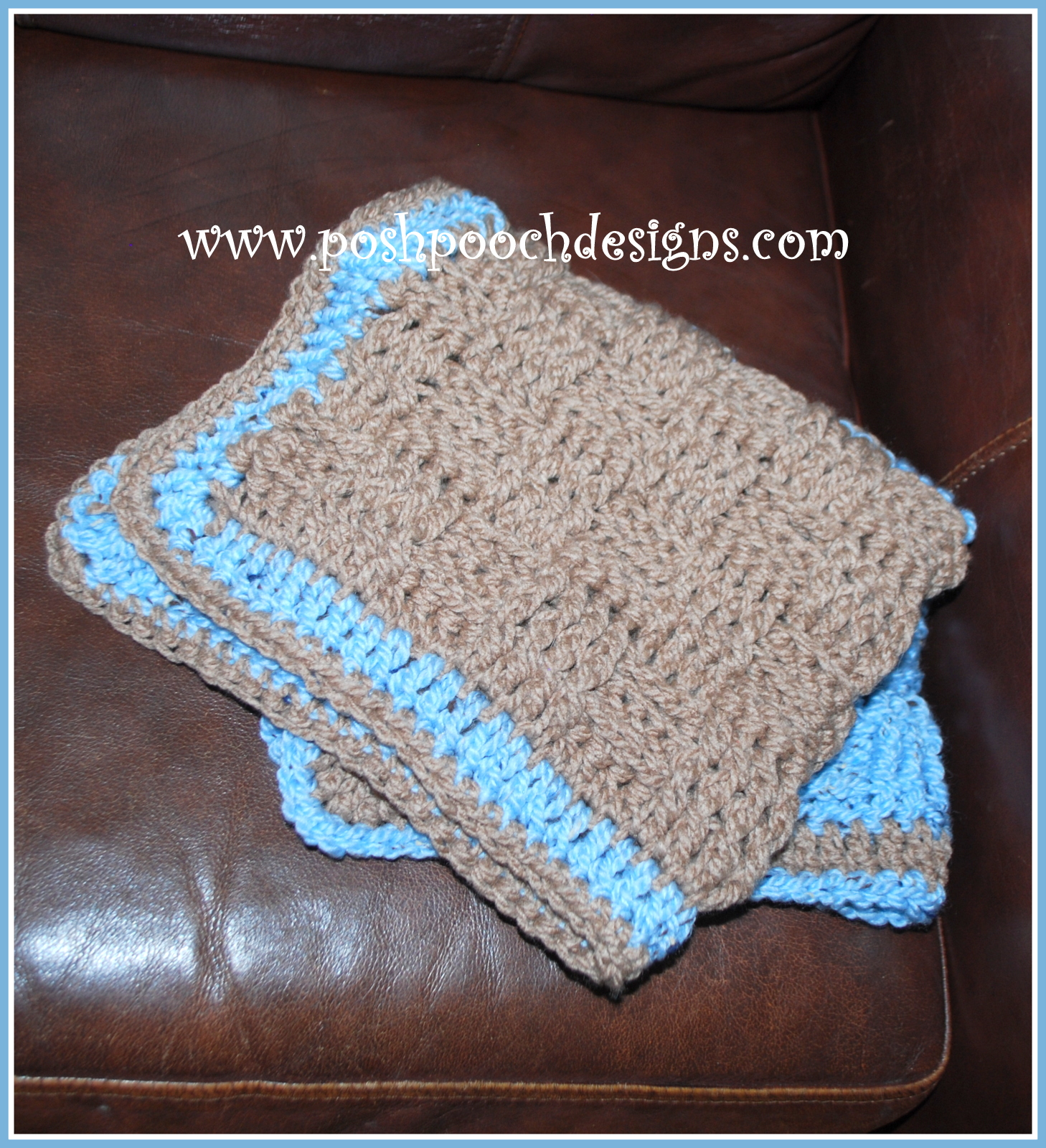 Crochet Pattern For Dog Blanket : Posh Pooch Designs Dog Clothes: Crochet pattern for a Dog ...