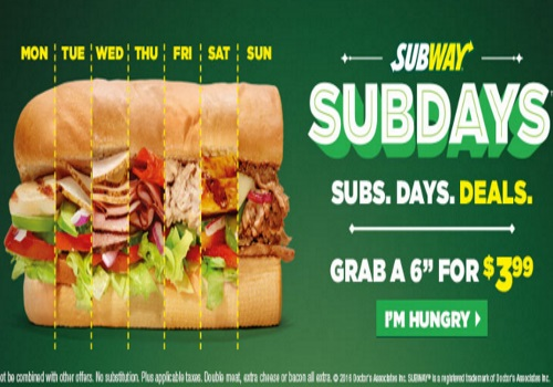 Subway Sub Days Subs Days Deals