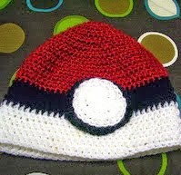 http://www.ravelry.com/patterns/library/crochet-pokemon-pokeball-beanie-hat