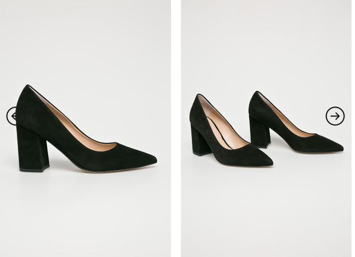 Solo Femme - pantofi din piele naturala inatorsa negri