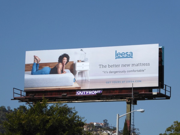 Leesa better mattress billboard