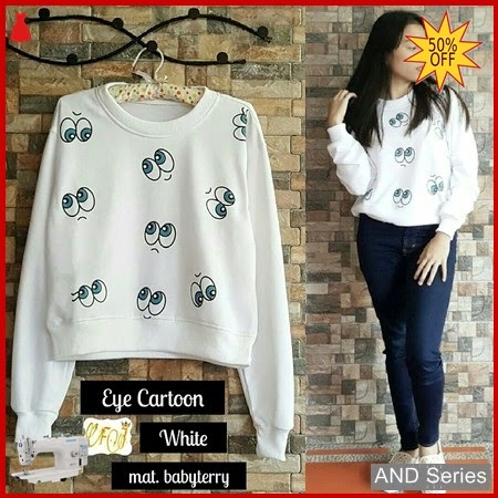 AND122 Sweater Wanita Eye Cartoon Termurah BMGShop