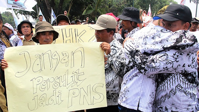 Aksi 222, Honorer K2 Bakal Kerahkan 10 Ribu Massa Protes Kebijakan KASN