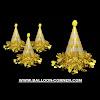 Topi Ulang Tahun Kerucut Hologram (Gold & Silver)