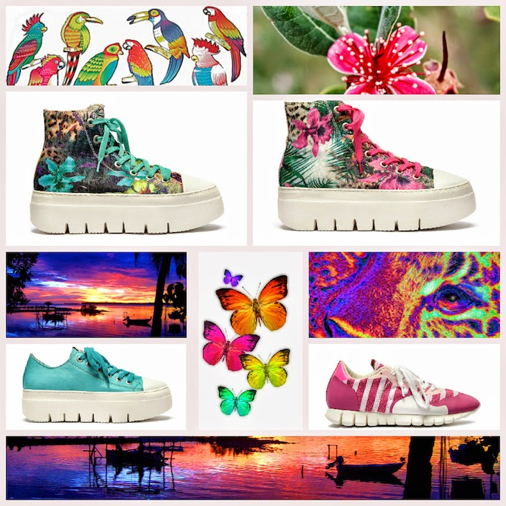 Floral, retro' and romantic mood for Soyafish  Sneakers in SS15-49042-fashionamy