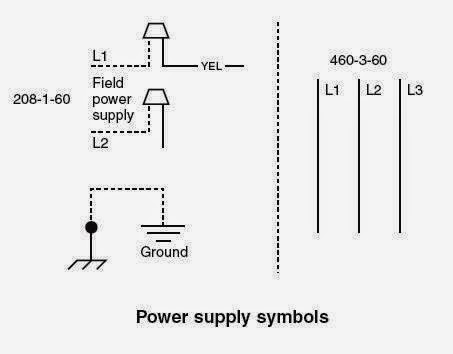Power Supply Symbols on Hvac Electrical Wiring Diagrams