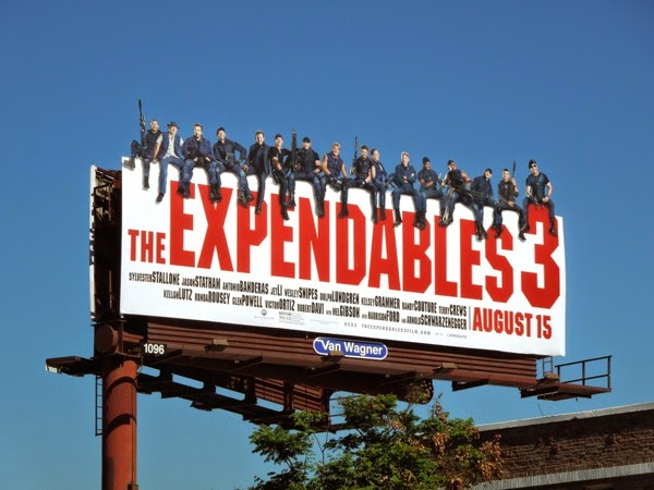 The Expendables 3 special movie billboard