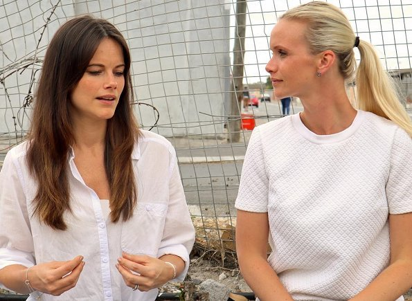 Princess Sofia of Sweden and Frida Vesterberg attended a meeting in Gugulethu