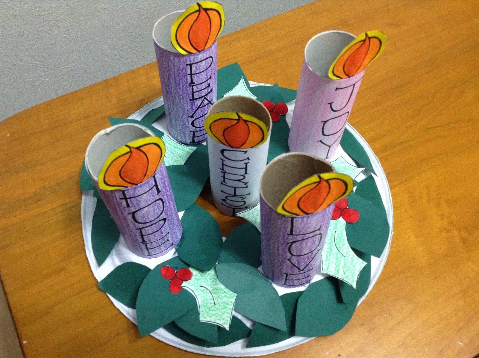 Kids Advent Wreath Crafts