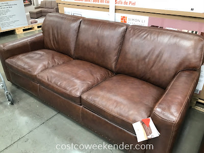 Simon Li Leather Sofa: great for your living room or family room