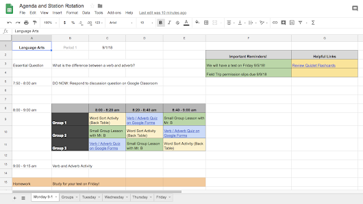 Using Spreadsheets to Add Transparency and Efficiency to Your Classroom