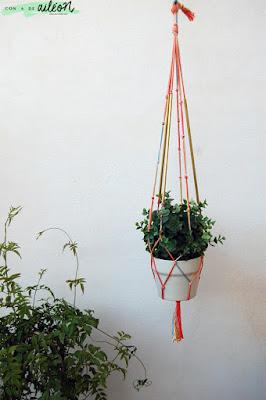 macetero diy hanger plant