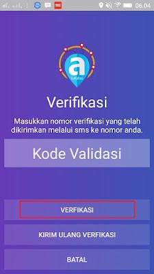cara verifikasi nomor handphone di apliksi android adakatalog