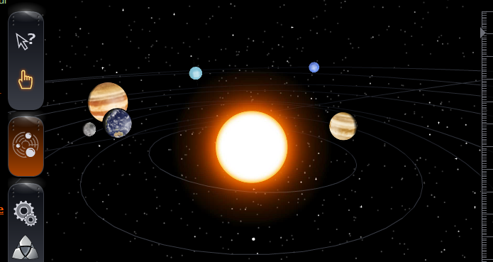 realistic solar system from above-#15