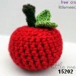 patron gratis manzana amigurumi, free amiguru pattern apple
