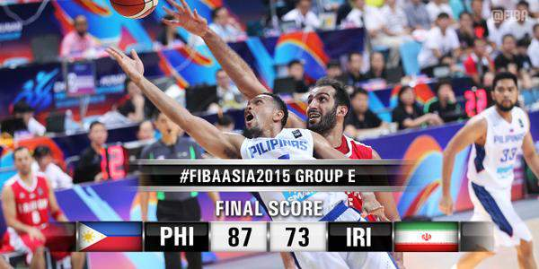 Video Highlights: Gilas Pilipinas upsets Iran, 73-66, | #FIBAAsia2015