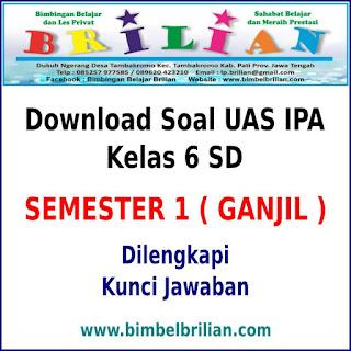 Kali ini Admin ingin membagikan Download Soal UAS IPA Kelas  Download Soal UAS IPA Kelas 6 SD Semester 1 (Ganjil) Dan Kunci Jawabannya