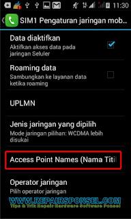 Solusi Advan S4P tidak bisa konek internet