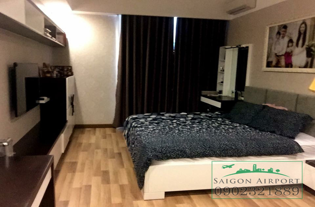 căn hộ Saigon Airport Plaza quận Bình Tân cho thuê giá rẻ - giường ngủ