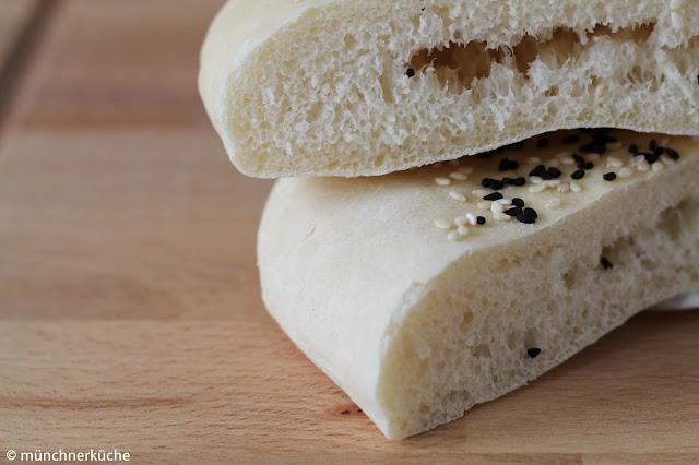 Pita Brot Taschen aus Hefeteig.