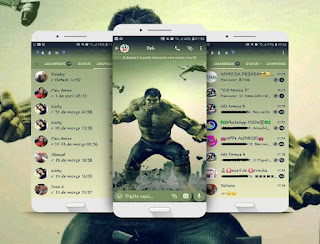 Hulk Theme For GBWhatsApp By Renata