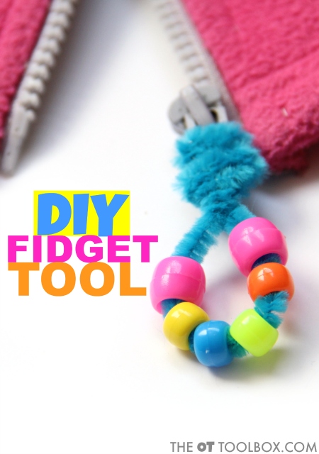 Kids can use this DIY fidget tool zipper pull for addressing sensory needs that result in worry or anxiety, sensory meltdowns, or other issues as a result of sensory processing challenges. Read how to make a DIY fidget tool for sensory needs and how to use a fidget tool.