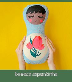 boneca naninha espantinha, pintada à mão! | espanta-papão