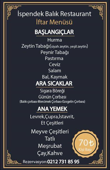 ispendek balık restaurant selimpaşa istanbul iftar