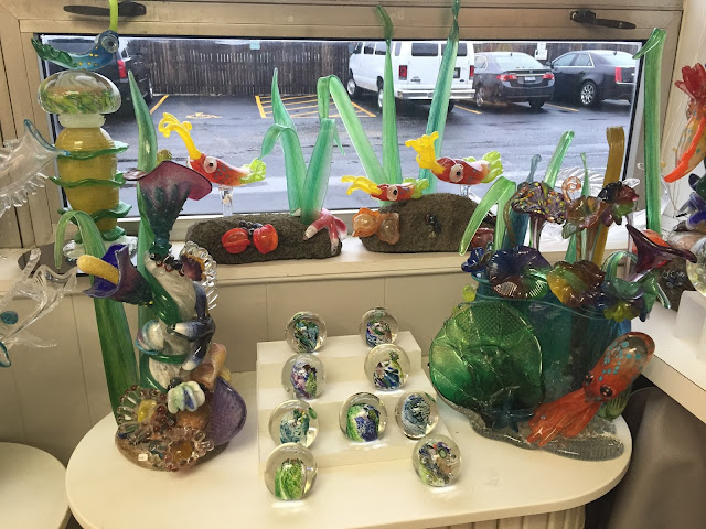 Glass art created at Patterson Glassworks in Mundelein, Illinois