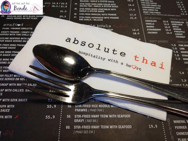 MAKAN DI ABSOLUTE THAI, TEMPAT MAKAN DI MYTOWN, TOM YAM SEDAP, TOM YAM ORIGINAL THAI, THAILAND FOOD,