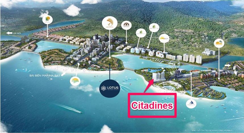 Vị trí dự án Citadines Hạ Long