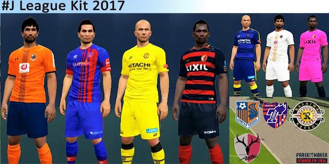 PES 2017 J League Kitpack 2017 by Praskitmaker
