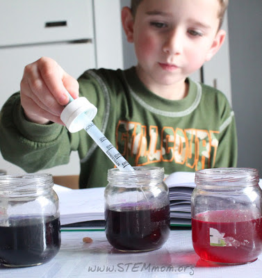 Boy with dropper and pH lab: STEMmom.org