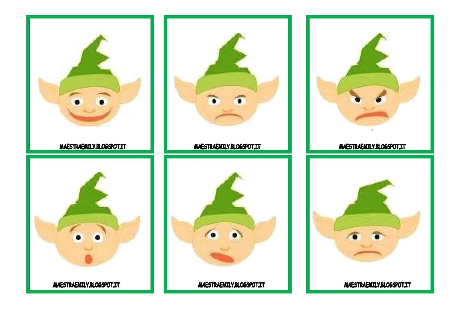 Maestraemily memory delle emozioni in versione natalizia for Memory da stampare
